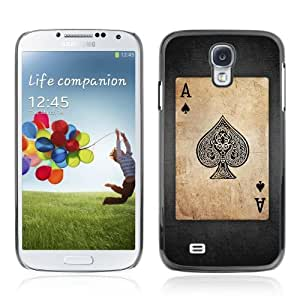 Designer Depo Hard Protection Case for Samsung Galaxy S4 / Vintage Playing Cards Ace