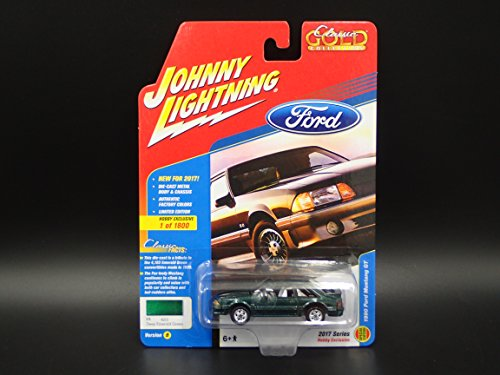 1990 FORD MUSTANG GT FOX BODY 2017 JOHNNY LIGHTNING CLASSIC GOLD HOBBY EXCLUSIVE VERSION B 1 OF 1800 - Johnny Lightning Classic Car