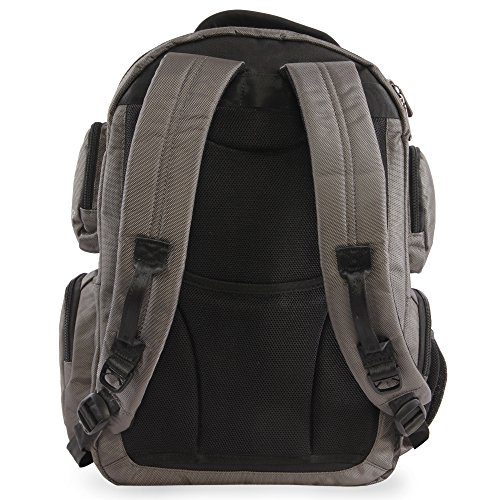 51gNvFDTwhL - ORIGINAL PENGUIN Odell 9 Pocket Laptop/Tablet Backpack Briefcase, Charcoal, One Size
