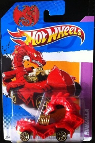 rot RODZILLA Hot Wheels 2012 Year of the Dragon Edition Series 1 64 Scale Collectible Die Cast Car by Mattel