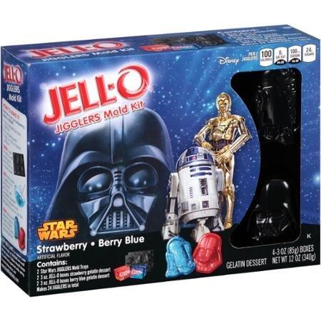 Jell-O Star Wars Jigglers Mold Kit, Strawberry + Blue Berry Gelatin