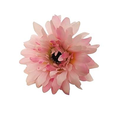 10 Pièces Fleurs Artificielles chrysanthème fleur de simulation pour Décoration Maison lumière Pink