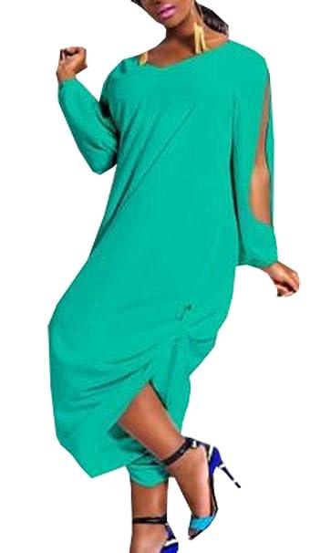 c50ce35cad4f Women s Plus Size Loose Chiffon Romper Baggy Harem Jumpsuit Green M