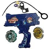 Bey Battling Blades Game Metal Fusion Set, Duotron Dual Launcher / Ripper, Blue WBBA Version