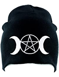 Triple Moon Goddess Wicca Beanie Knit Cap Alternative Clothing Pagan Witchcraft
