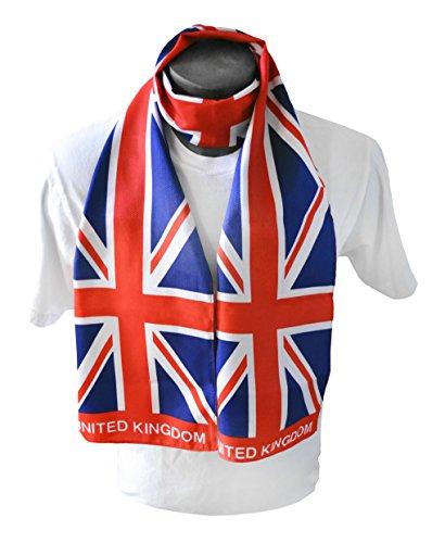 "Union Jack Print Scarf 64""x8"" One Size Fits All English British Flag Scarf Shawl"