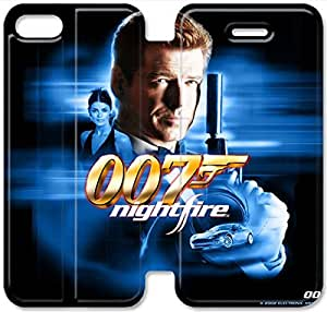 Premium Flip Ultra Slim 007 James Bond-18 iPhone 5 5S Leather Flip Case