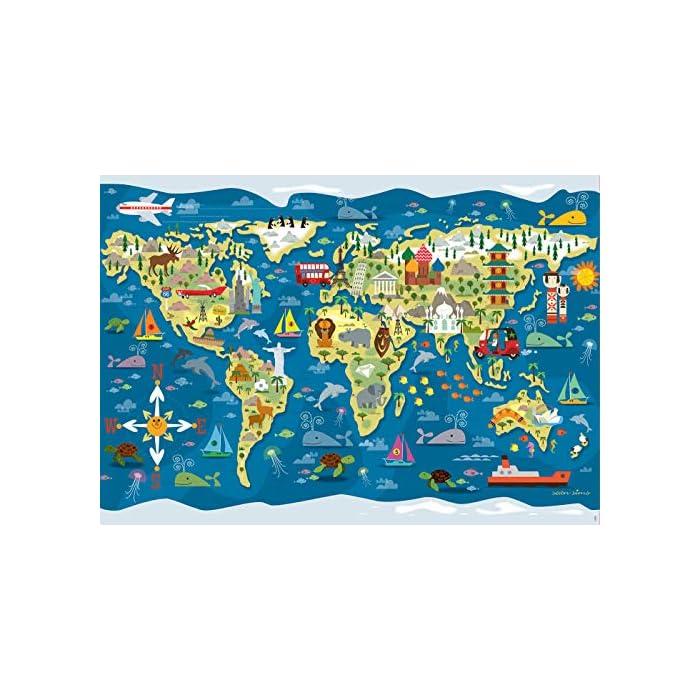 51gNwvlTuqL Puzzles de 200 piezas; con este puzzle educa borras colabora con Aldeas Infantiles SOS Puzzles inspirados en Mapamundi - Sean Sims Aldeas Infantiles SOS Compuestos por grandes piezas, perfectamente acabadas para que sea sencilla y segura su manipulación por los niños
