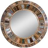 Uttermost 04017 Jeremiah Round Wood Mirror