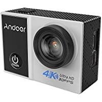 Andoer C5 Pro 4K/30fps Action Camera 1080P/120fps 720P/240fps Full HD Ambarella A12S75 16MP WiFi Waterproof Diving 30m 2.0 LCD 170 Degree Wide Angle Lens Anti-shake Gyro Sports DV Cam