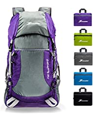 YOULERBU 35L Foldable Hiking Backpack Lightweight Packable Camping Backpack Daypack for Men Women