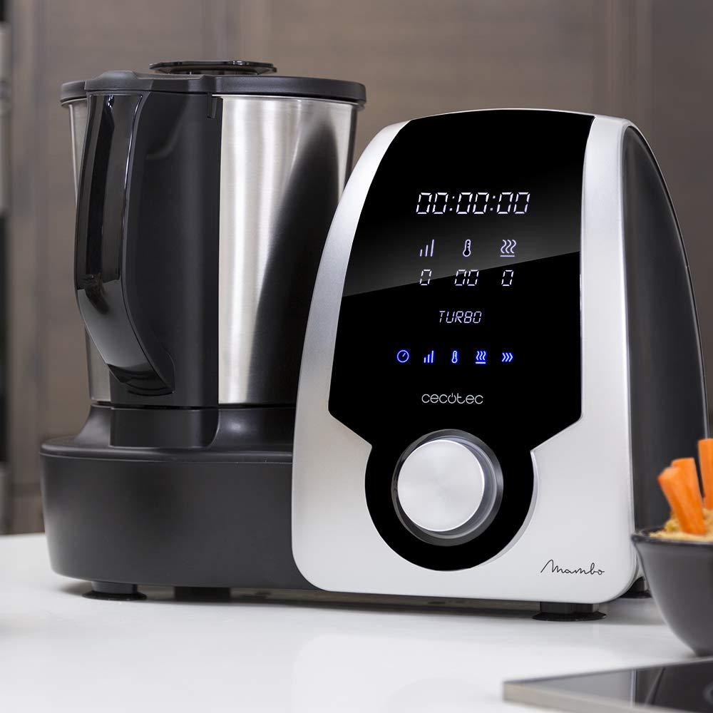 Cecotec Robot de Cocina Multifunción Mambo Silver . Con 23 Funciones, Pantalla Digital, Jarra de acero inoxidable de 3,3l., 10 velocidades y temperatura ...