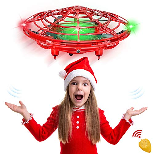CPSYUB Hand Operated Mini Drone, Toys for Boys Age 6, Hands Free Kids Drone Toys for Age 4, 5, 6, 7, 8, 9, 10, 11, 12 Boys / Girls, Easy Flying Ball Drone for Kids Toys Gifts (Red)