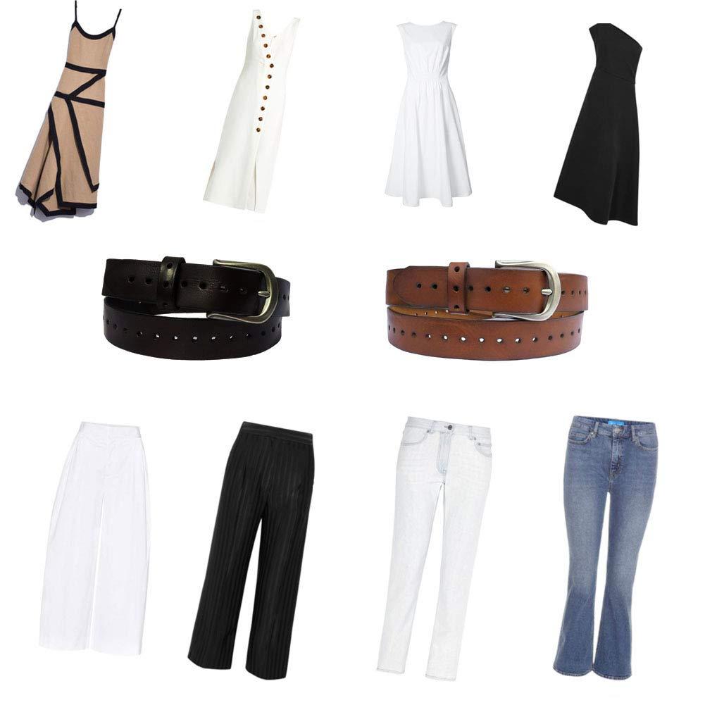 Amazon.com: MASAYIN - Cinturón para mujer con hebilla, piel ...