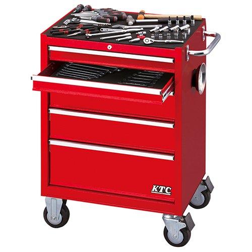 京都機械工具 KTC SK18 工具セット(SKX3805/赤) KTC 9.5sq./68点組 SK36818RX B077SNHPGB