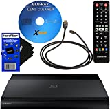 Samsung BD-J7500 3D 4K Upscaling Blu-ray Player with Wi-Fi + Remote Control + Xtech Blu-Ray Disc Laser Lens Cleaner + Xtech High-Speed HDMI Cable w/Ethernet + HeroFiber Ultra Gentle Cleaning Cloth