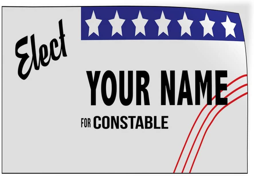 Custom Door Decals Vinyl Stickers Multiple Sizes Elect Name for Position White Black Z Political Elect Signs Outdoor Luggage /& Bumper Stickers for Cars White 34X22Inches Set of 10