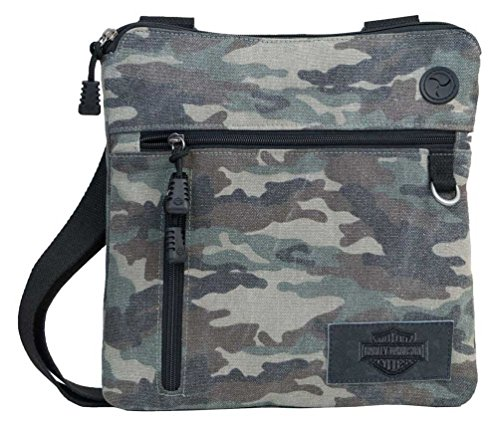 Print Canvas Bar & Shield Crossbody Bag MC2771S-CAMO ()