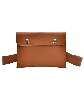 JapanAttitude Pochette en bandoulière ou ceinture taille haute, imitation  cuir marron, médiéval casual 9147df0e3fc