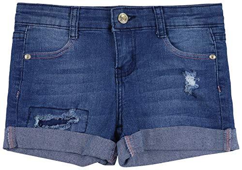 ToBeInStyle Girl's Denim Mini Shorts - Midwash Distressed Panel - 12 ()