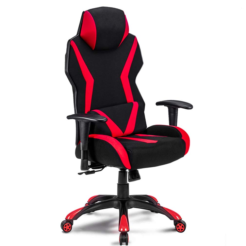 Ergonomic Chair Gaming Chair Office Chair Back Support for Video Game with Adjustable Armrest Home Office Swivel Computer Desk Chair Mesh Back and Fabric Seat with Lumbar Support