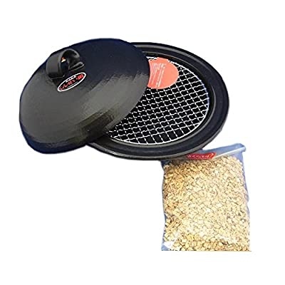 Made in Japan Ceramic Stovetop Smoker, Easy to make, Indoor/Outdoor by Nagomi Co.,Ltd.
