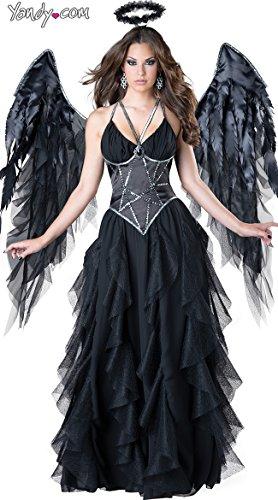 InCharacter Costumes Women's Dark Angel Costume, Black, Medium -