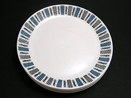 Set of Five 1950s Retro Biltons Dinner Plates: Amazon.co.uk: Kitchen ...