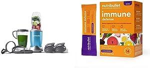 NutriBullet NB9-1301T Pro 13 Pcs Sky Teal with SuperFood Immune Defense Boosts with SuperFood Immune Defense Boosts - 14 Single Serve Packs