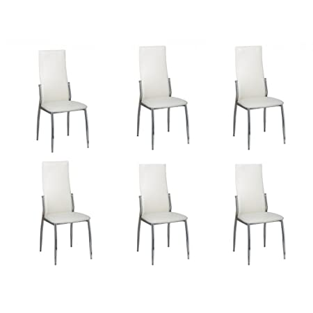 6 Esszimmerstühle Stuhlgruppe Essgruppe Sitzgruppe Küchen Stuhl Stühle Weiß  NEU: Amazon.de: Küche U0026 Haushalt