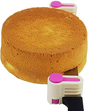 Kitchen Fixator Tool 5 Layers Leveler Slicer Toast Cut St@llion 2PCS DIY Cake Slicer Stratification Auxiliary Pink Bread Slice