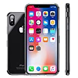 iPhone X Case,Clear Thin Hybrid Cute Armor Slim Hard Back Defender Flexible Tpu Bumper Non Slip Non Bulky Full Body Shockproof Resistant Protective Cover for Apple iPhone X / 10 Phone 2017- Crystal