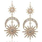 Big luxury Drop Earrings Rhinestone Punk Earrings for women Jewelry vintage statement earrings