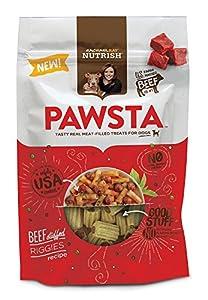 Rachael Ray Nutrish Pawsta Dog Treats, Riggies Stuffed with Beef Recipe, 4.5 oz