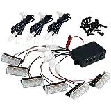 18 LED Lumière Flash Stroboscope Strobe Clignotant Blanc d'Urgence Pour Voiture
