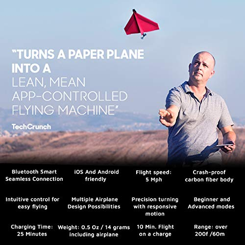 POWERUP 3.0 Original Smartphone Controlled Paper Airplanes Conversion Kit – Durable Remote Controlled RC Airplane for…