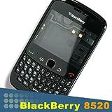 Original Genuine Blackberry Curve 8520 Full Housing Black Lens Keypad Faceplate Trackpad