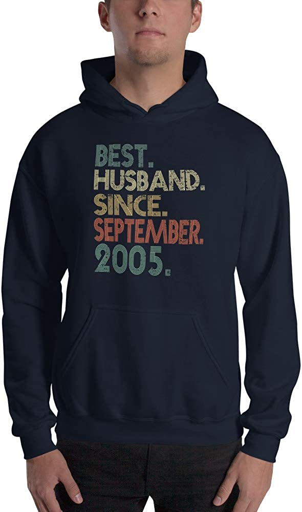 TEEPOMY 14th Wedding Best Husband Since September Hooded Sweatshirt
