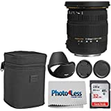 Sigma 17-50mm f/2.8 EX DC OS HSM FLD Large Aperture Standard Zoom Lens for Canon Digital DSLR Camera + 32GB Memory Card + Photo4Less Cleaning Cloth - Super Accessory Kit