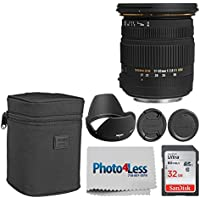 Sigma 17-50mm f/2.8 EX DC OS HSM FLD Large Aperture Standard Zoom Lens for Nikon SLR Camera + 32GB Memory Card + Photo4Less Cleaning Cloth - Super Accessory Kit