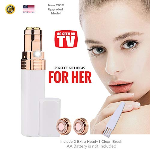 Facial Hair Removal for Women, STOUCH Hair Remover Portable Electrical Epilator Razor Shaver Trimmer for Good Finishing and Painless Touch with Two Replacement Heads, As Seen On TV (As Seen On Tv Laser Hair Removal)