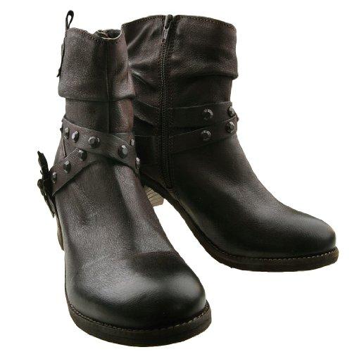 bugatti - Botas de Piel para mujer Marrón marrón (marrón oscuro 610)