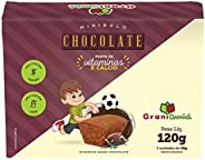 Minibolo de Chocolate sem Glúten e sem Lactose - Grani Amici 120g - 3 Unidades