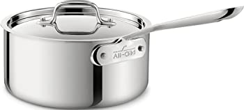 All-Clad Stainless Steel Sauce Pan with Lid Cookware