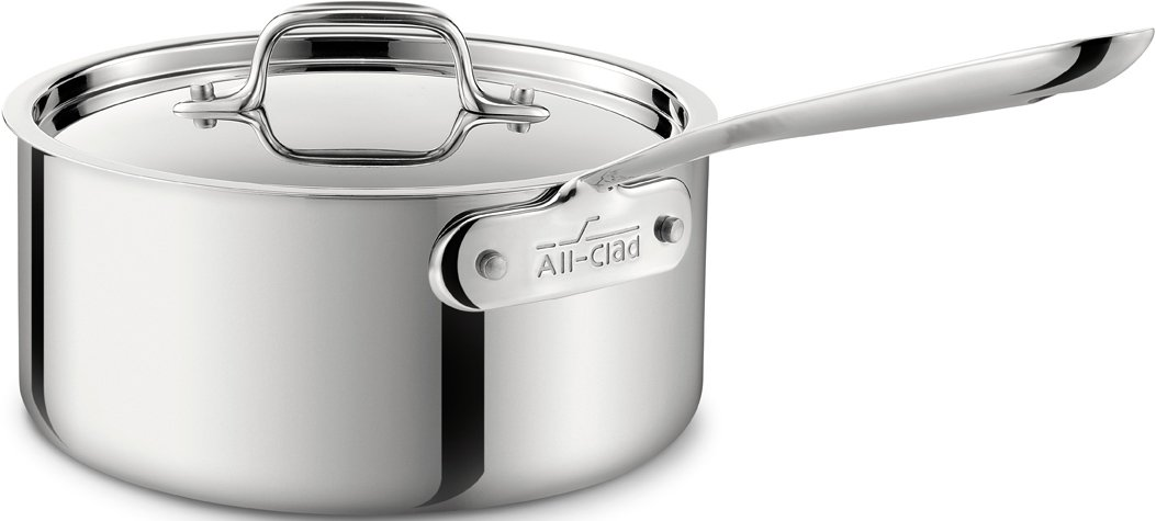All-Clad 4201.5 Stainless Steel Tri-Ply Bonded Dishwasher Safe Sauce Pan with Lid Cookware, 1.5-Quart, Silver by All-Clad B004T6M6Y4 1.5-Quart1.5-Quart