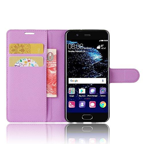 Manyip Funda Huawei P10,Caja del teléfono del cuero,Protector de Pantalla de Slim Case Estilo Billetera con Ranuras para Tarjetas, Soporte Plegable, Cierre Magnético(JFC5-19) H