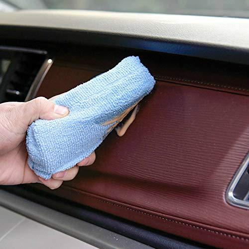 Syfinee 12 pcs Sponge Pad Microfiber Car Wash Cleaning Waxing Polishing Sponge Block Blue Premium