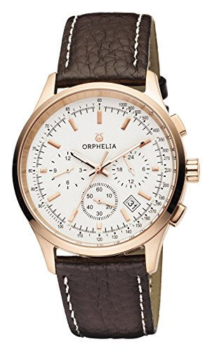 ORPHELIA 24h Men's Brown Leather watch-OR81703