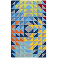 Rizzy Home PD588A Play Day Hand-Tufted Area Rug, Gray, 3 x 5