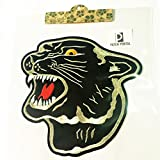 Patch Portal Black Panther 8 Inch Embroidered Iron On Sew On Patches Animal ...